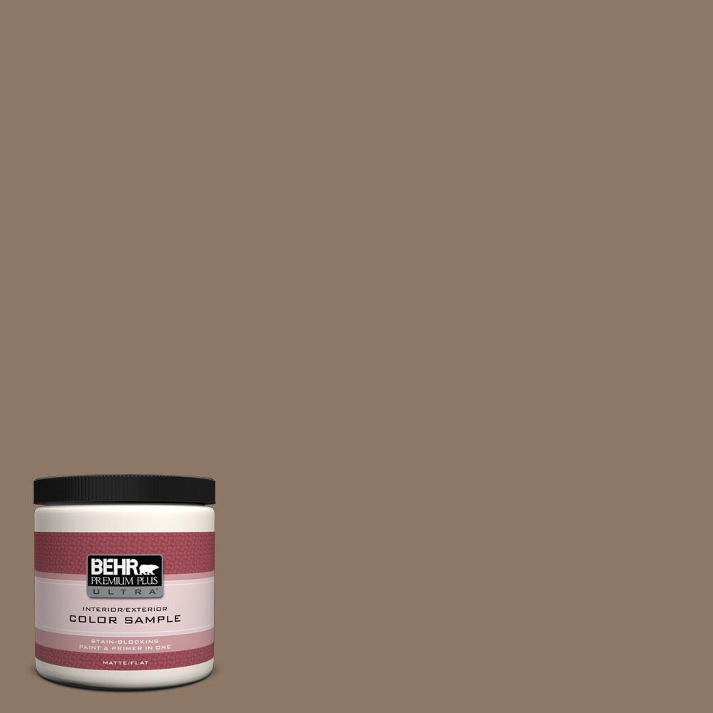 8 oz. #PPU5-5 Coconut Shell Interior/Exterior Paint Sample