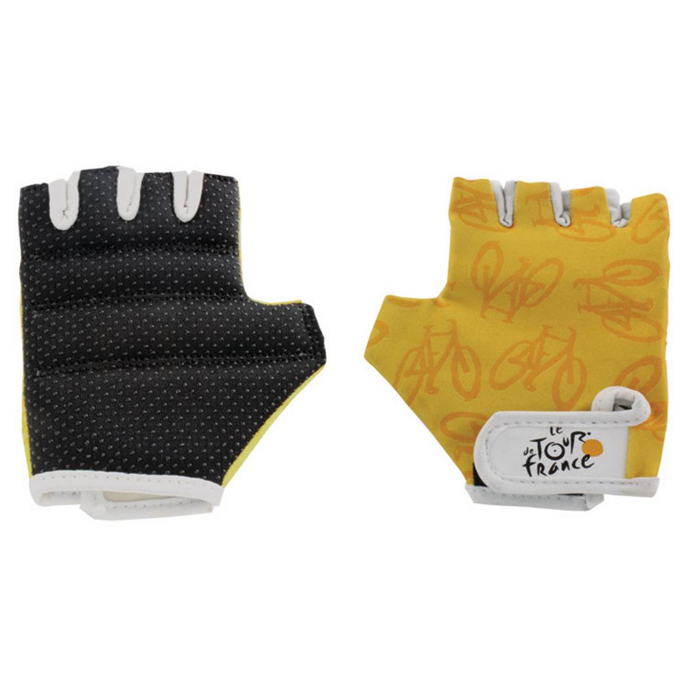Extra Small Bike Gloves, Black/Yellow