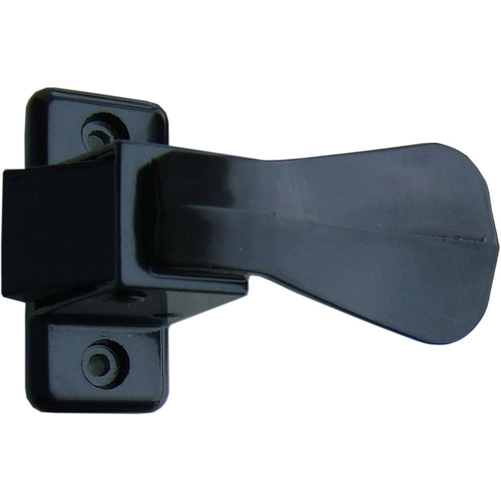 Storm and Screen Door Push Button Handle Set, Black
