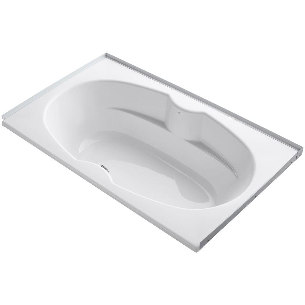 ProFlex 6 ft. Center Drain Alcove with Tile Flange Bathtub in
