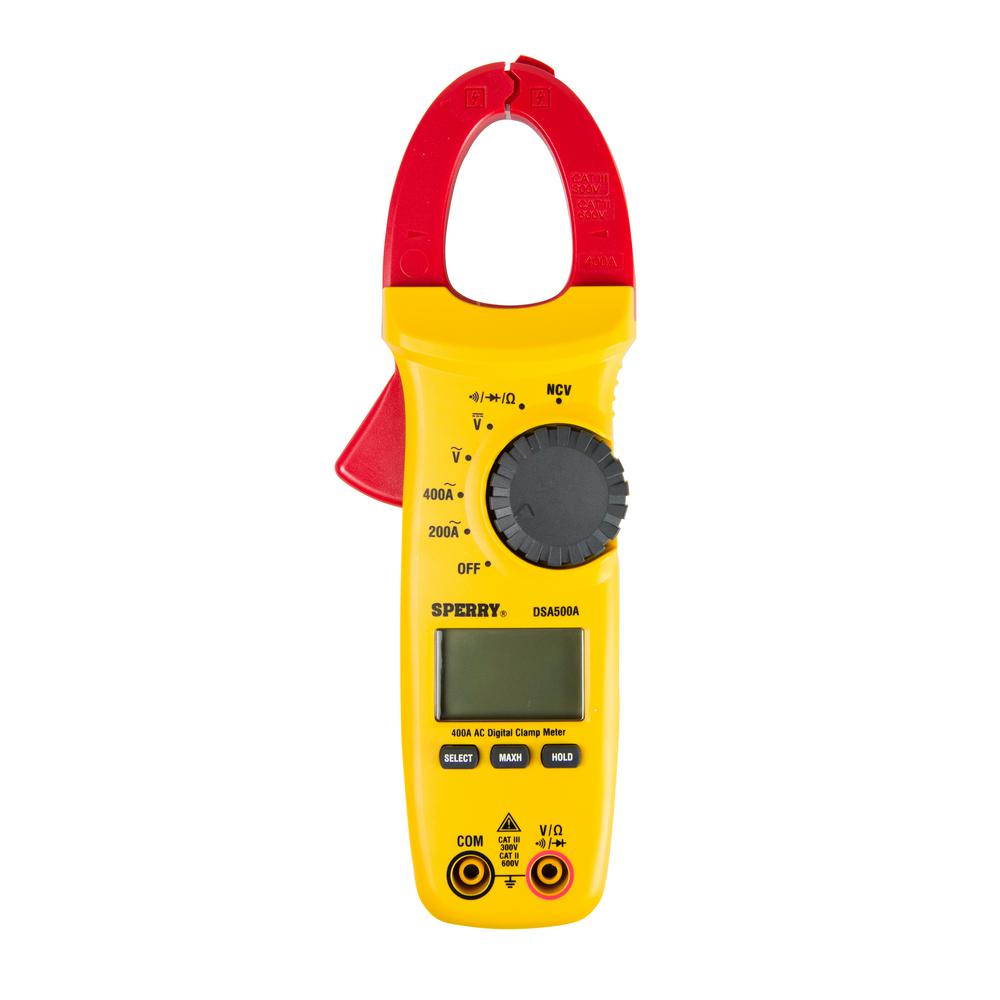 A Digital Clamp Meter 400 : Sperry amp digital clamp meter dsa a the home depot