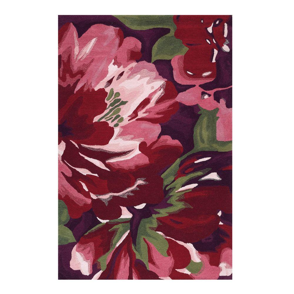 Home Decorators Collection Lavish Eggplant 2 ft. 6 in. x 4 ft. 6 in. Accent Rug