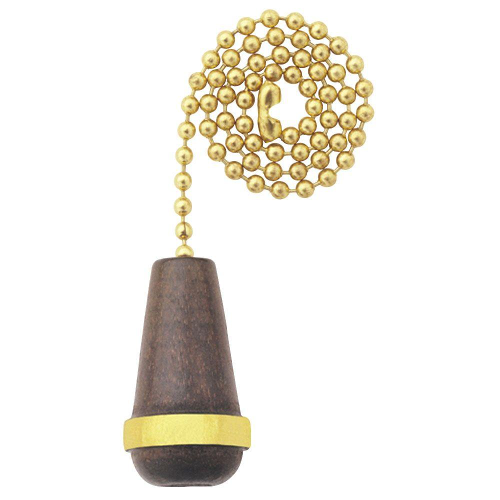 Westinghouse Walnut Wooden Cone Pull Chain