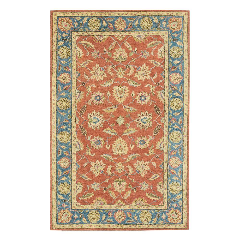 Home Decorators Collection Old London Terra and Blue 9 ft. 6 in. x 13 ft. 6 in. Area Rug