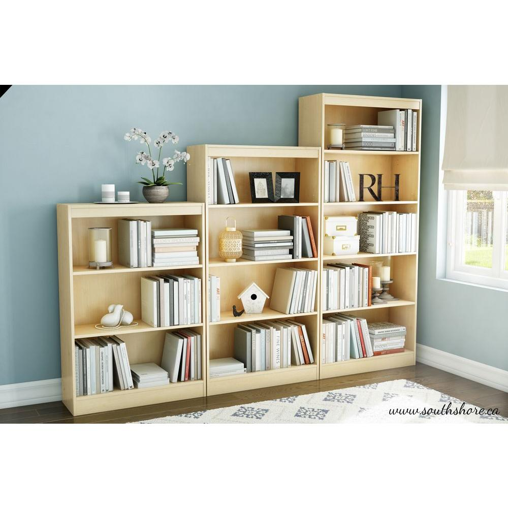 South Shore Axess 4-Shelf Bookcase in Natural Maple-7113767 - The Home