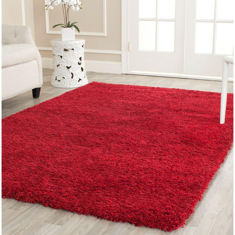 Safavieh California Shag Red 5 ft. 3 in. x 7 ft. 6 in. Area Rug