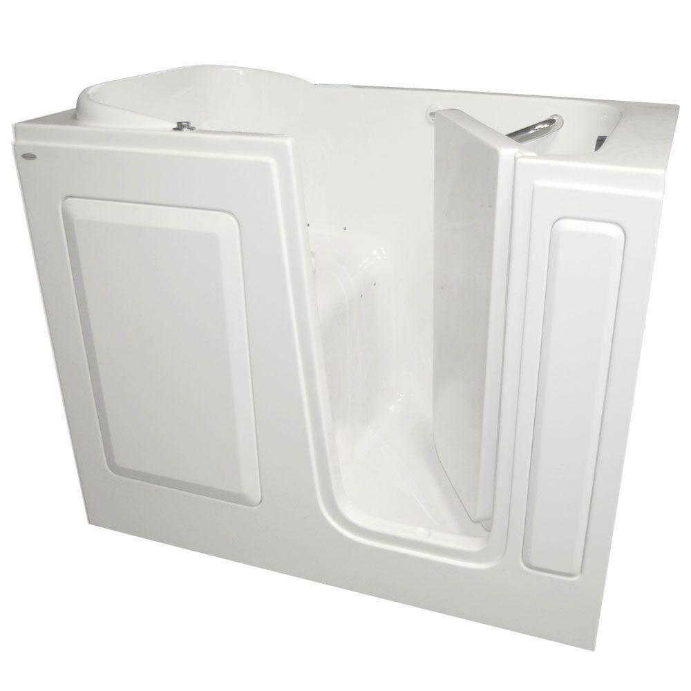 Gelcoat 4 ft. Right Quick Drain Walk-In Air Bath Tub in