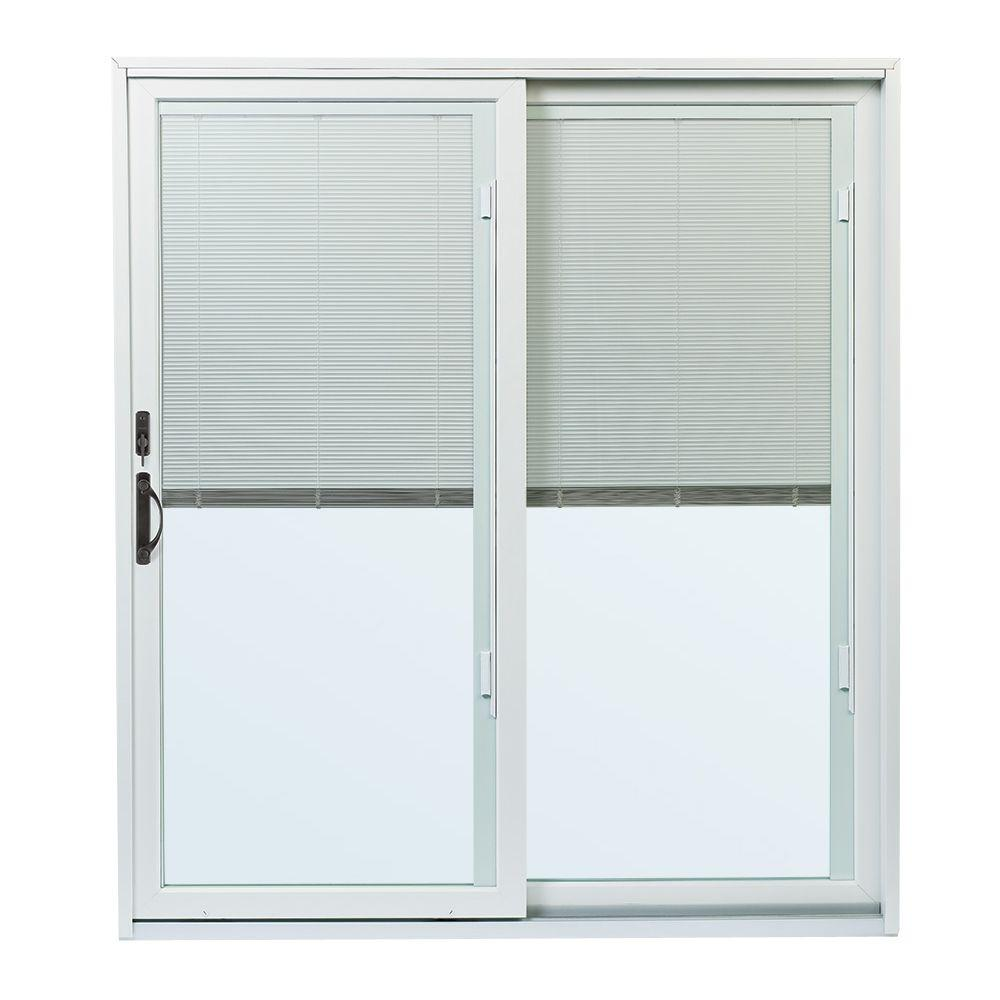 in x    in : patio doors with blinds between the glass