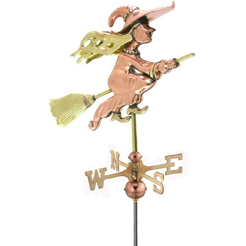 Good Directions Witch Garden Weathervane Pure Copper with Garden