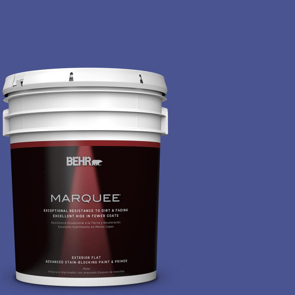 BEHR MARQUEE 5-gal. #P540-7 Canyon Iris Flat Exterior Paint-445305 - The