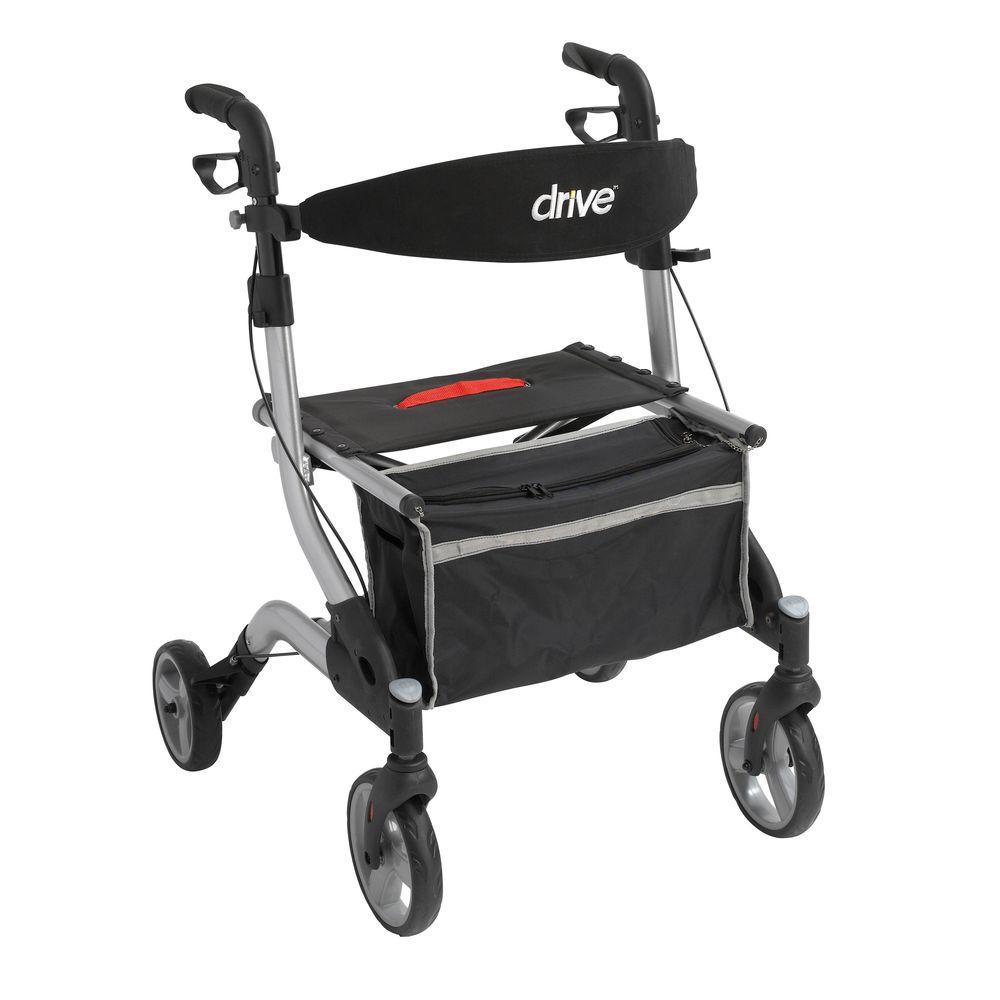 Drive iWalker Euro Style Rollator in Silver-rtl10555sl - The Home Depot