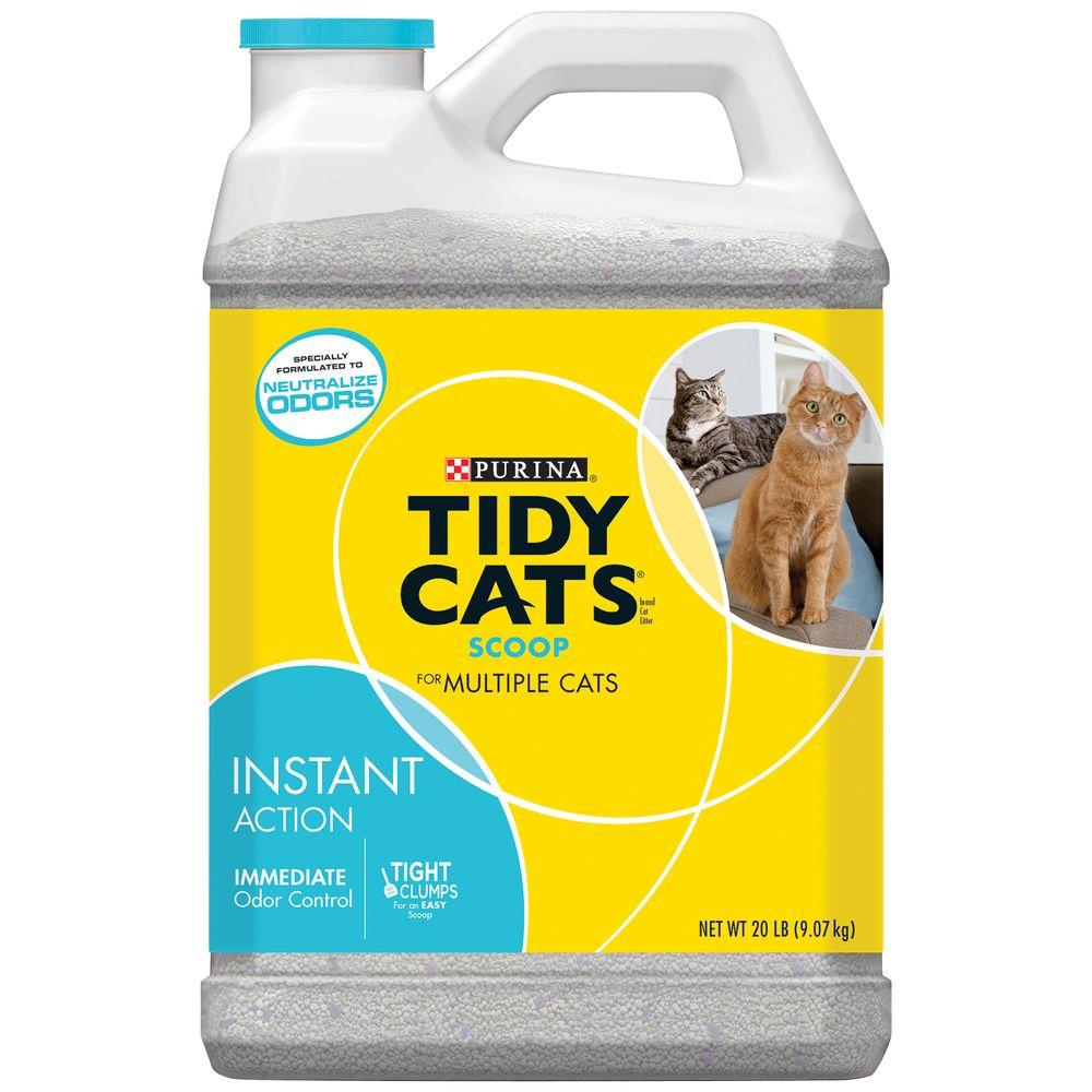Purina® TIDY CATS® Instant Action Cat Litter - Clumping, Multi Cat is rated out of 5 by Rated 4 out of 5 by cindyh56 from I had not used Tidy Cat in many years, but I finally tried it with great surprise!!!