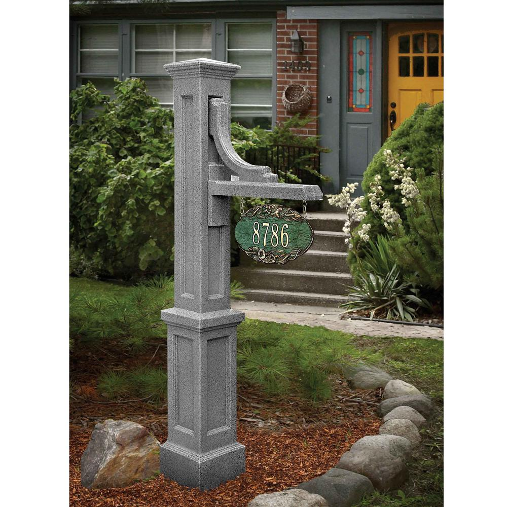 Mayne Woodhaven Address Sign Post in Granite