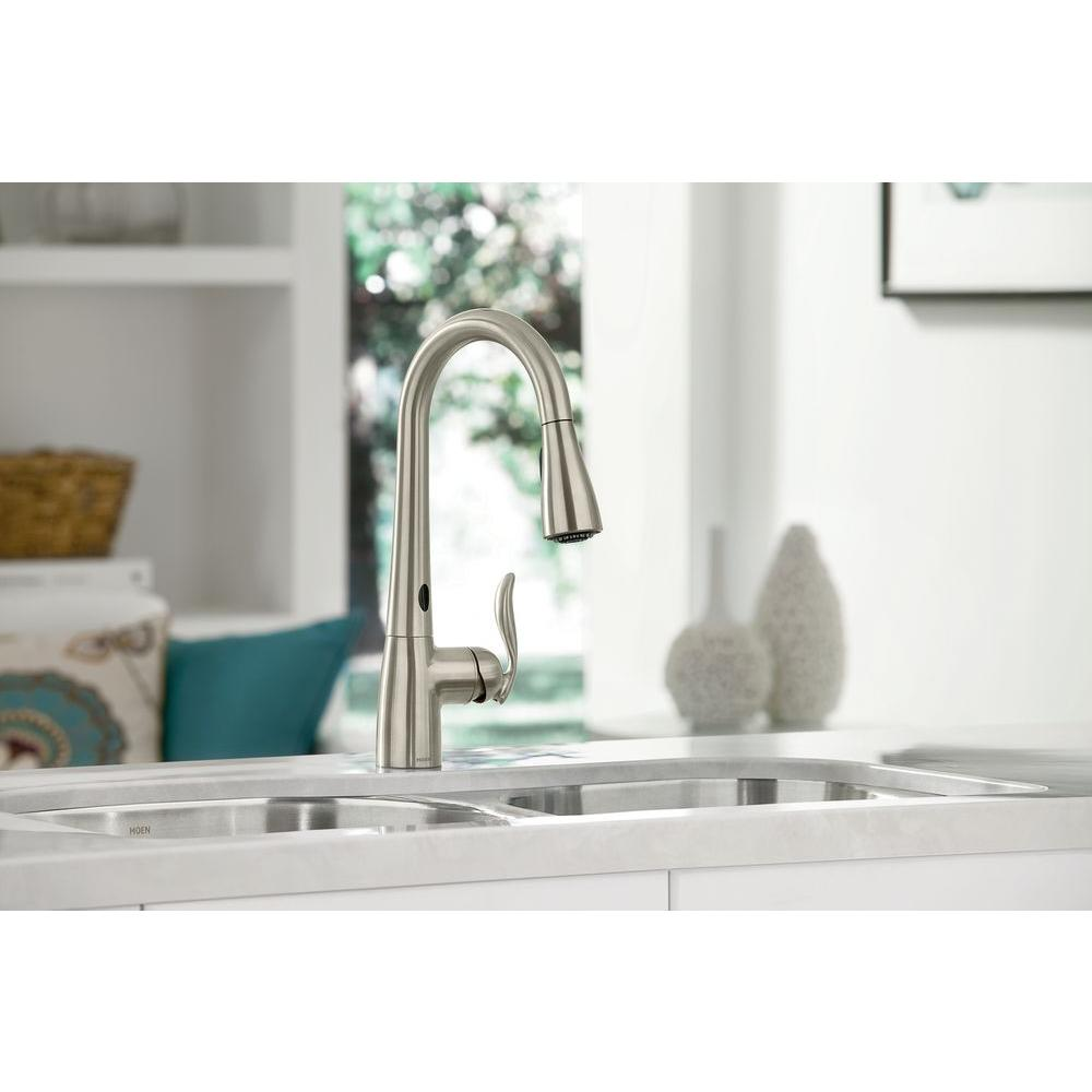 Moen Touchless Kitchen Faucet Moen Arbor Single Handle Pull Down Sprayer Kitchen Faucet With
