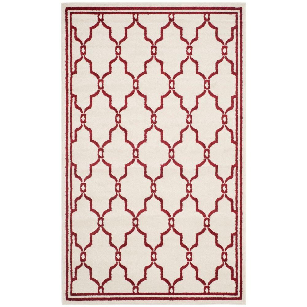 Amherst Ivory/Red 5 ft. x 8 ft. Indoor/Outdoor Area Rug