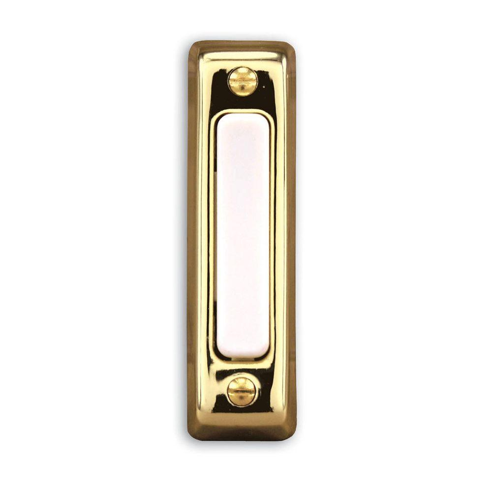 Wired Door Bell Push Button, Polished Brass