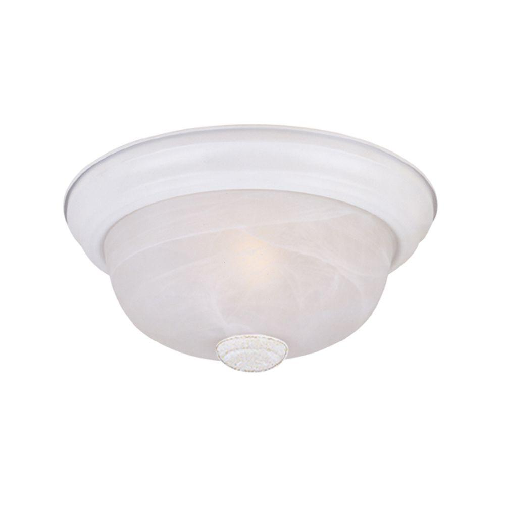 Reedley Collection 2-Light Solid White Ceiling Flushmount