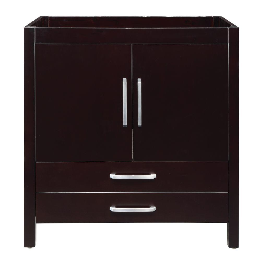 DECOLAV Cameron 36 in. W x 21 in. D x 35.50 in. H Birch Vanity Cabinet Only in Espresso