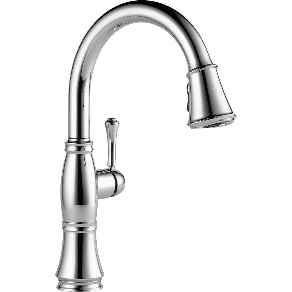 Delta Cassidy Single-Handle Pull-Down Sprayer Kitchen Faucet in Chrome-9197-DST
