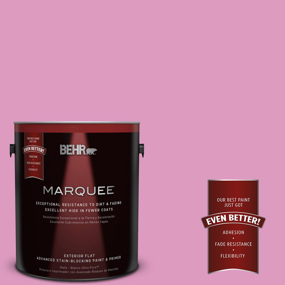 BEHR MARQUEE 1-gal. #690B-4 Pink Begonia Flat Exterior Paint