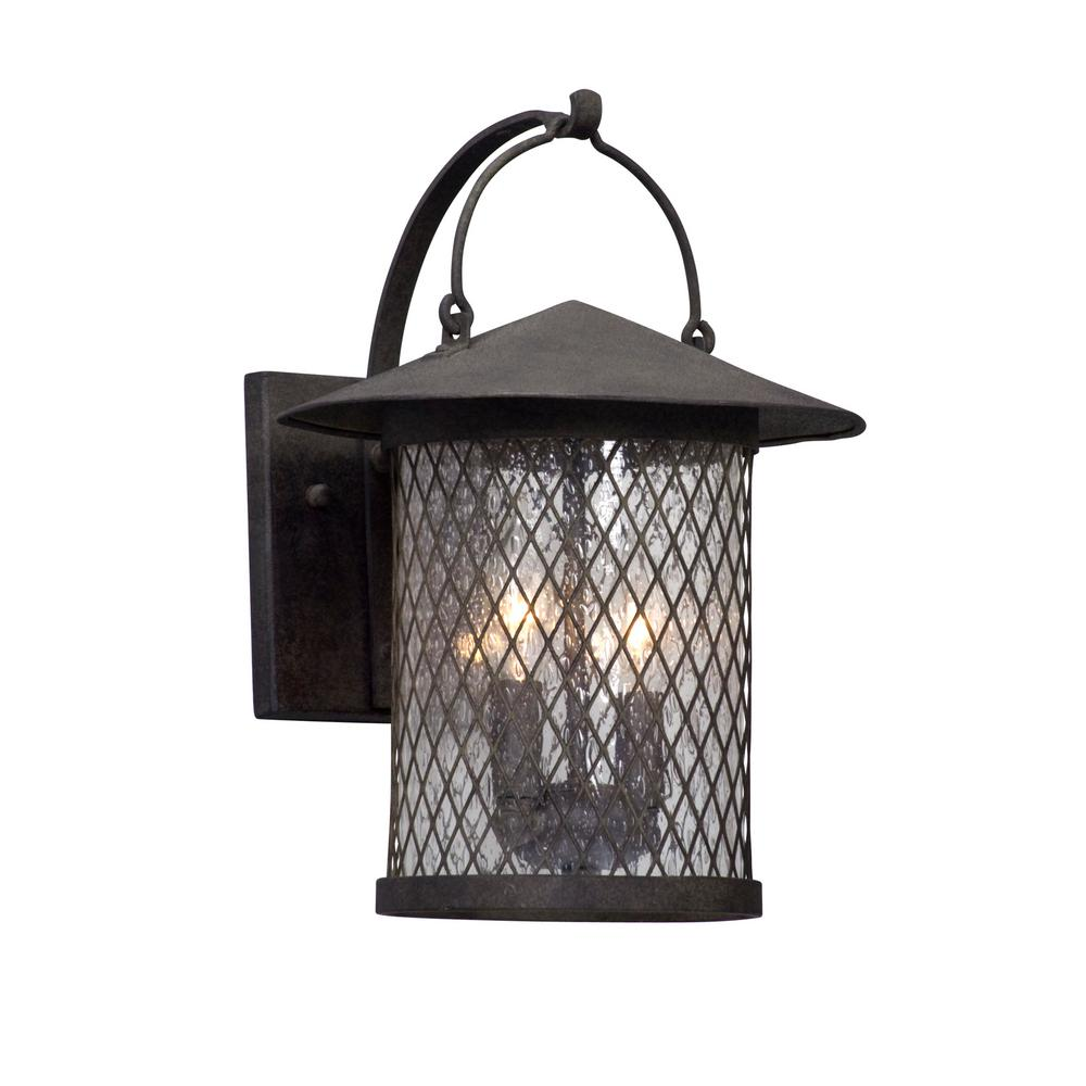 Iron Outdoor Wall Sconces : Troy Lighting Mumford 3-Light Bronze Outdoor Wall Mount Sconce-B5192 - The Home Depot