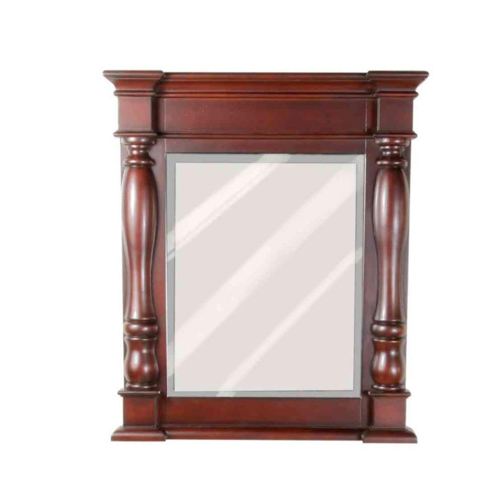 JSG Oceana Chess 32 in. x 27.4 in. Framed Mirror in Espresso