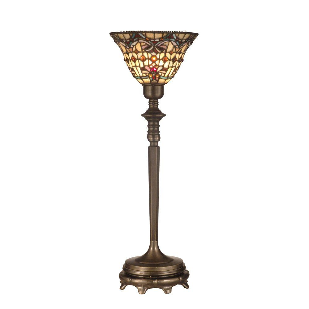 Dale Tiffany Tiffany Buffet 1-Light Antique Brass Lamp-DISCONTINUED