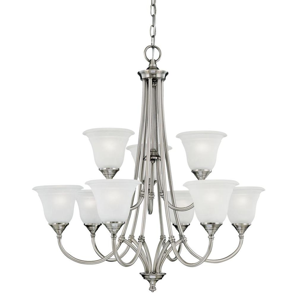 Thomas Lighting Harmony 9-Light Satin Pewter Chandelier-SL880241 - The Home