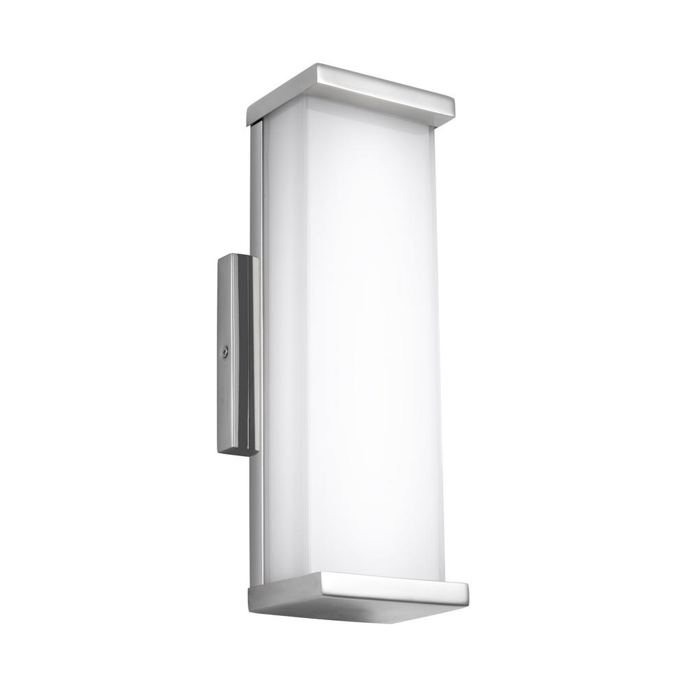 Altron Polished Stainless Steel Outdoor Integrated LED Wall Mount Lantern
