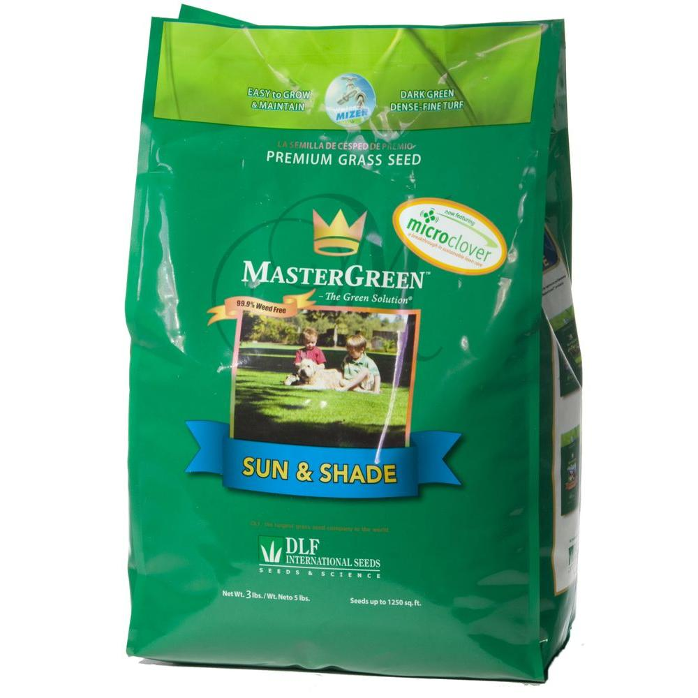MasterGreen 3 lb. Sun and Shade North Grass Seed with Micro Clover