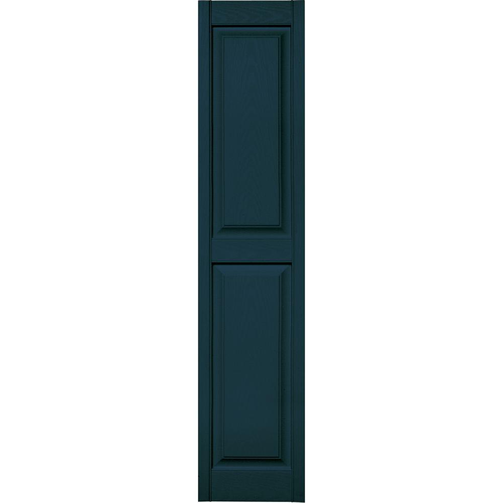 15 in. x 71 in. Raised Panel Vinyl Exterior Shutters Pair