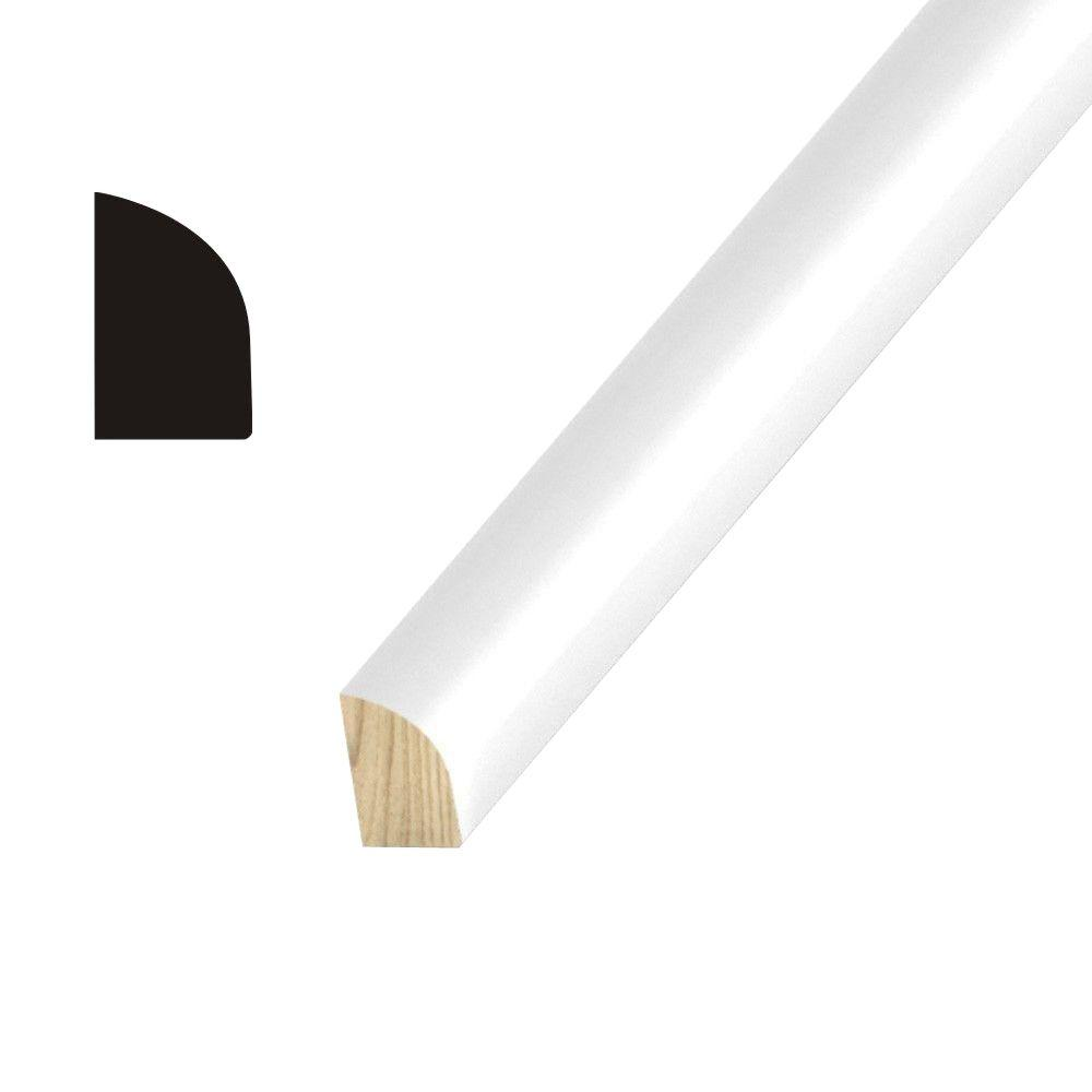 OP1129 3/8 in. x 3/4 in. Primed Finger-Jointed Pine Shoe Moulding