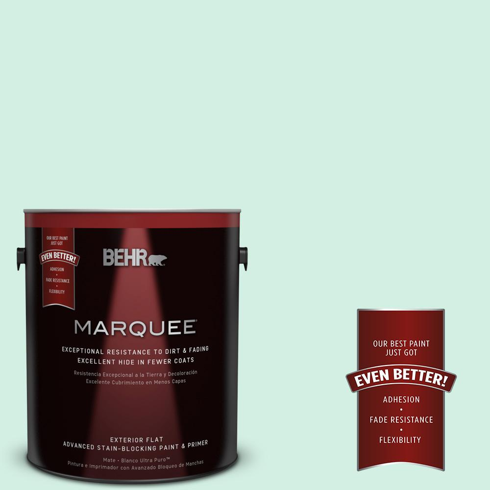 1-gal. #P420-1 Spring Frost Flat Exterior Paint