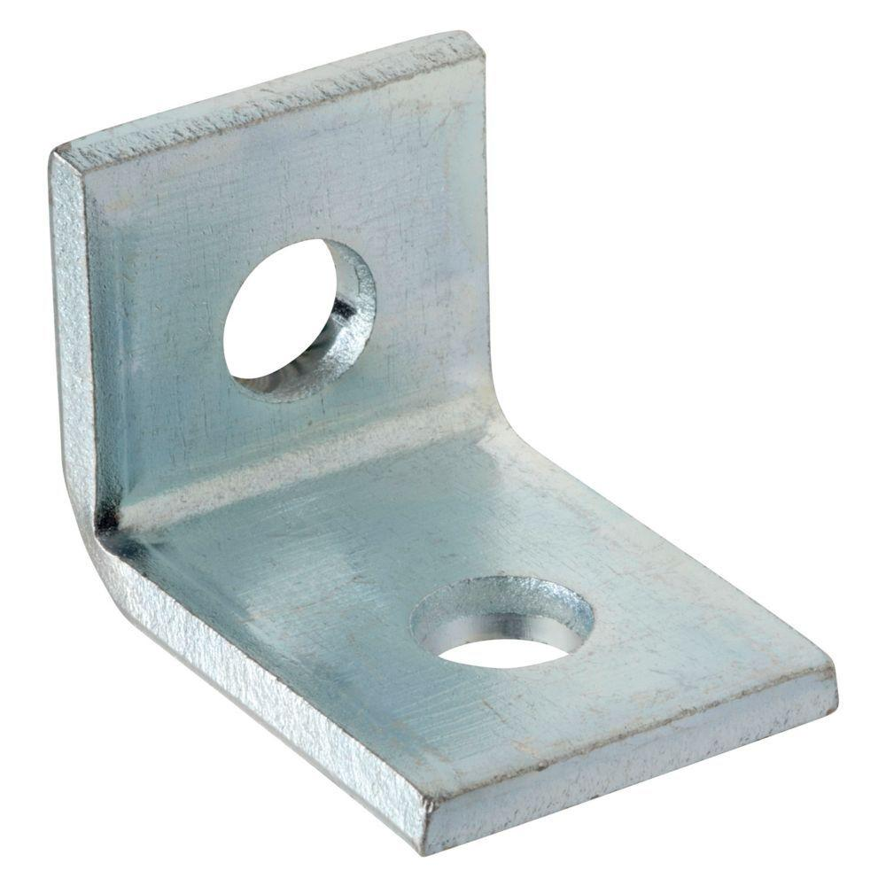 null 2-Hole 90 Degree Angle Bracket - Silver Galvanized