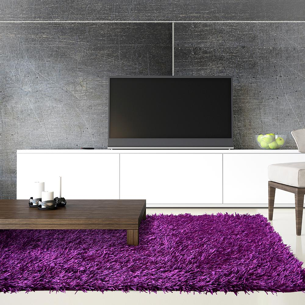 Electric Ave Purple 9 ft. x 12 ft. Area Rug