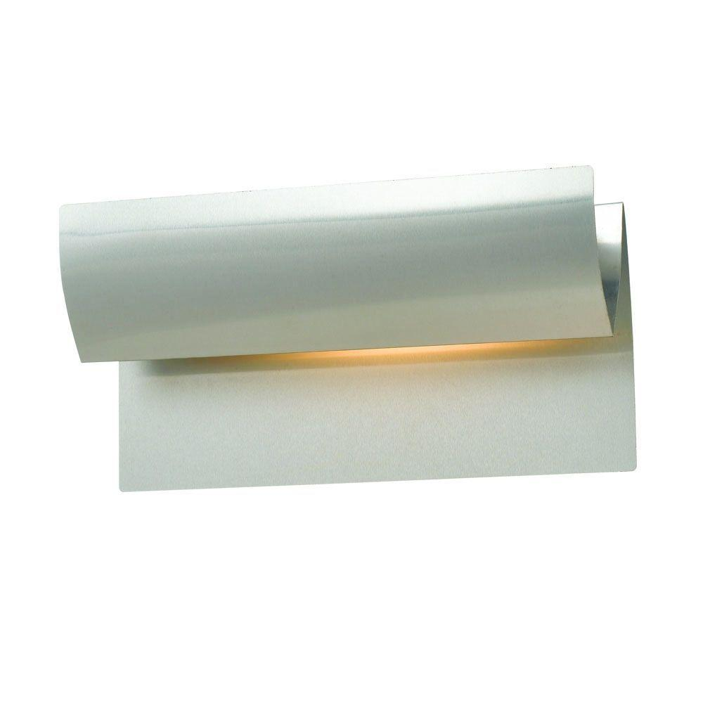 Hampton Bay Fiona 1-Light Brushed Steel Wall Sconce
