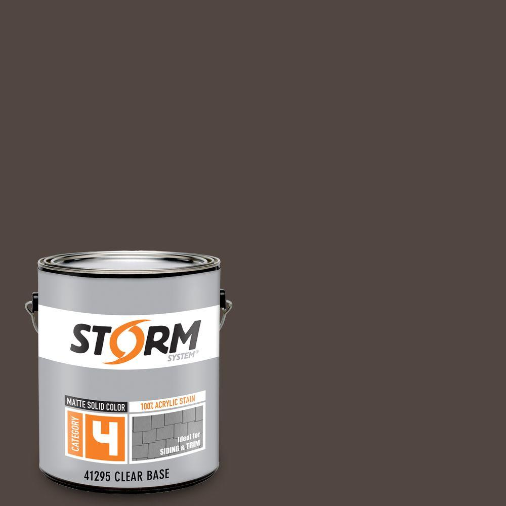Storm System Category 4 1 gal. Grizzly Bear Matte Exterior Wood Siding 100% Acrylic Latex Stain