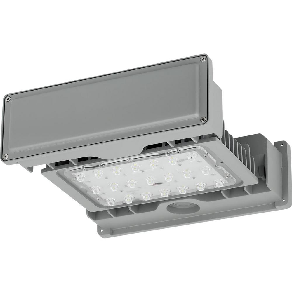 PCOGS Collection Gray Outdoor Integrated LED Area Light