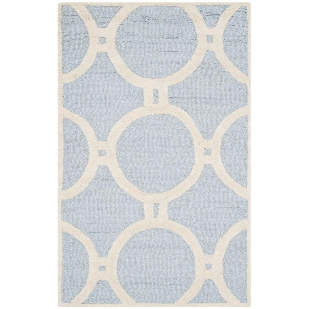 Cambridge Light Blue/Ivory 3 ft. x 5 ft. Area Rug