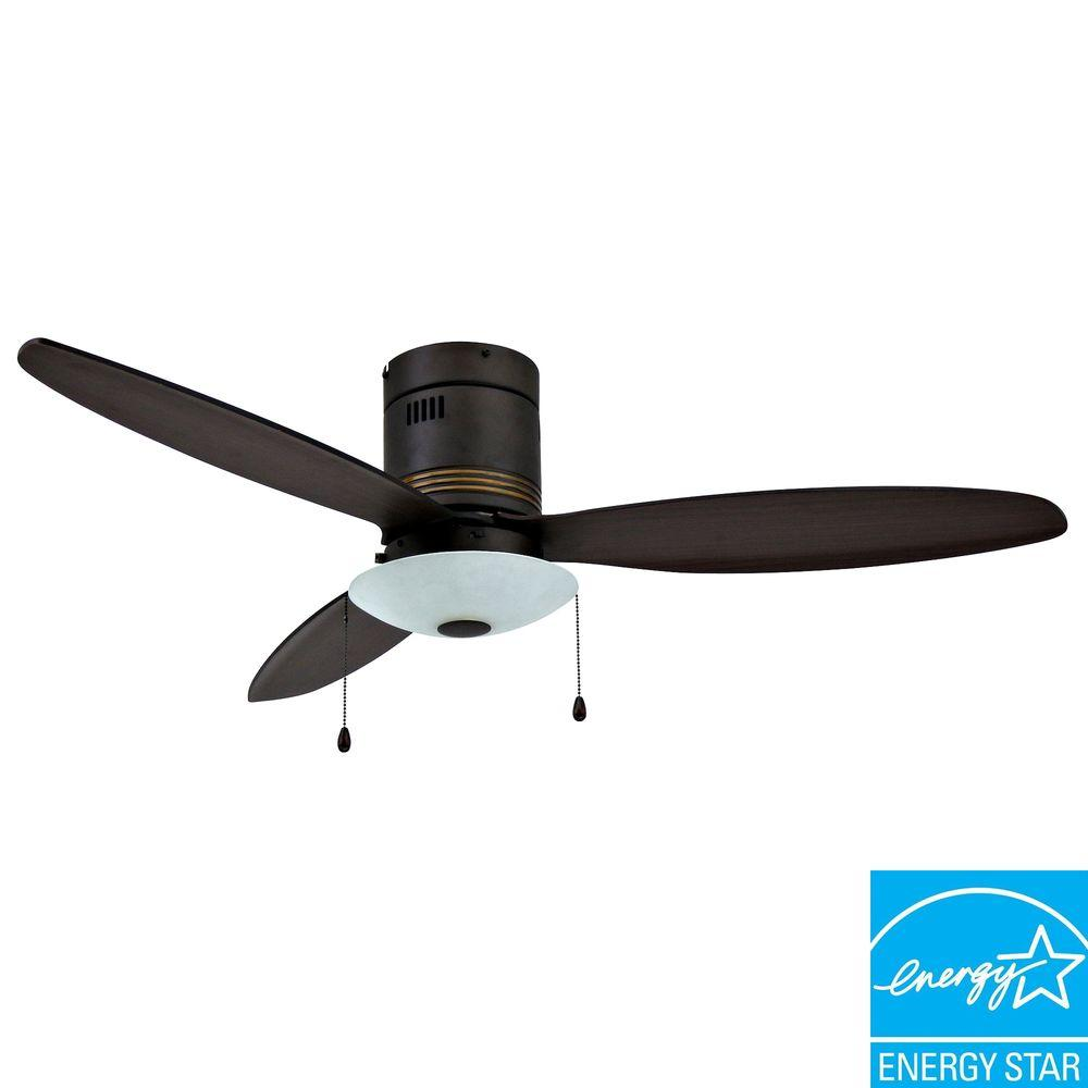Yosemite Home Decor Royale 52 in. Hugger Oil Rubbed Bronze Ceiling Fan with Plywood Blades-DISCONTINUED