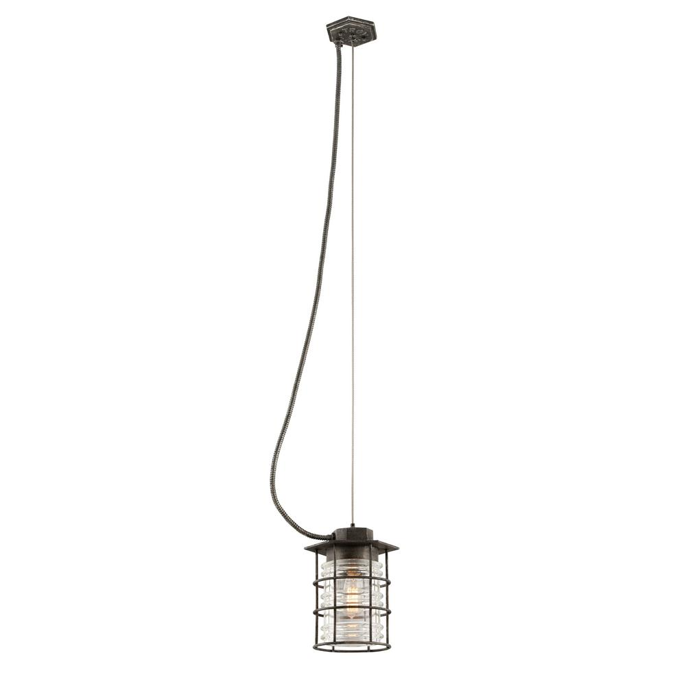 Troy Lighting Brunswick 1-Light Aged Pewter Outdoor Pendant-F3796 - The Home