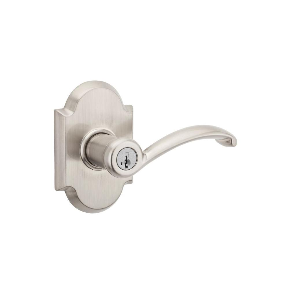 Austin Satin Nickel Entry Lever Featuring SmartKey