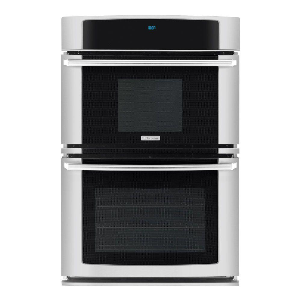 Electrolux Wave-Touch 27 in. Electric Convection Wall Oven with Built-In Microwave in Stainless Steel-DISCONTINUED