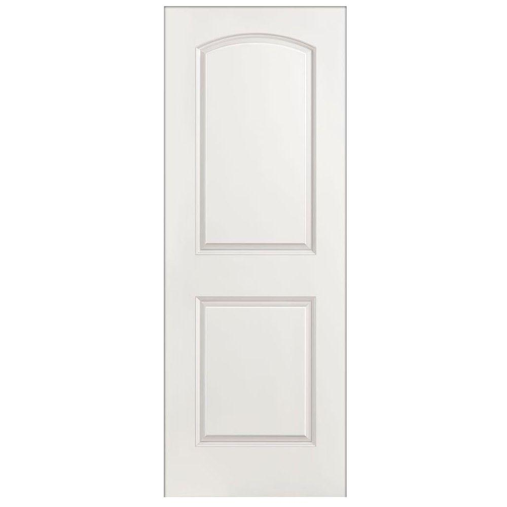 Masonite 32 in x 80 in roman smooth 2 panel round top for 1 panel interior door