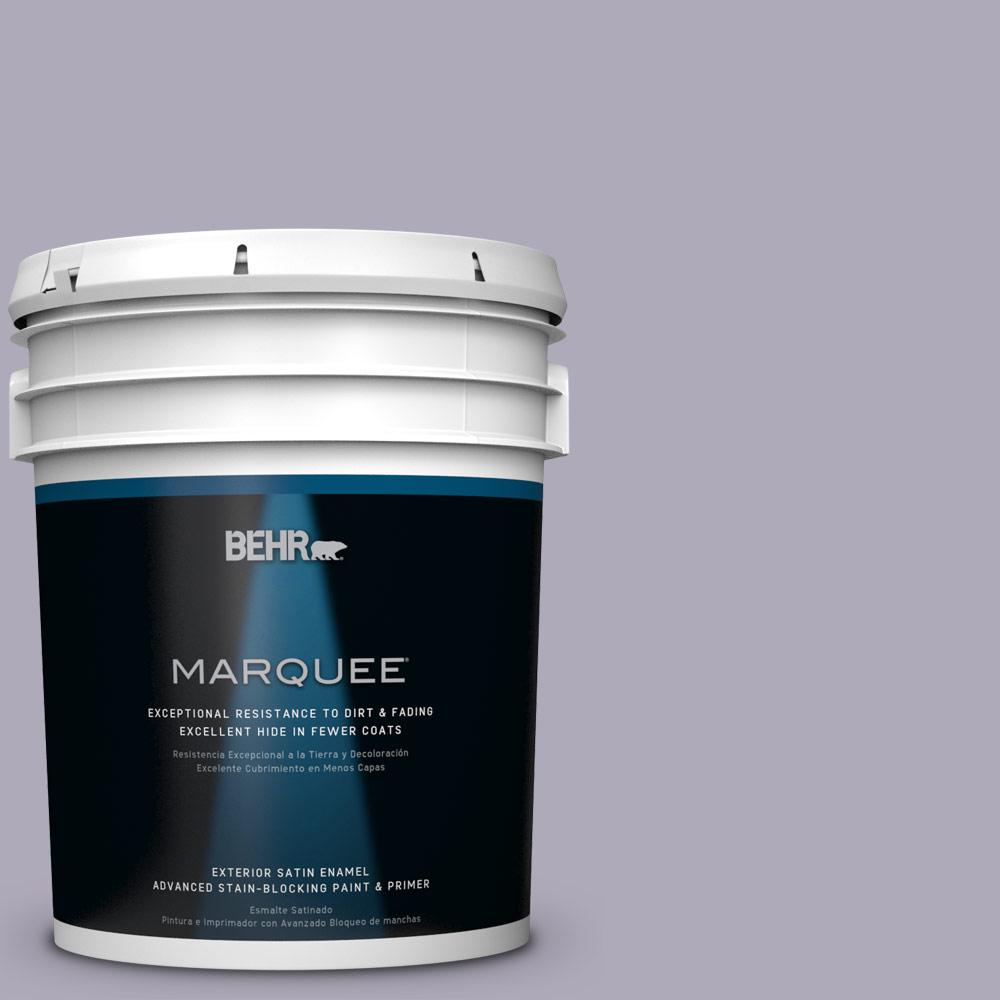 BEHR MARQUEE 5-gal. #ICC-98 Lilac Bloom Satin Enamel Exterior Paint-945405 -