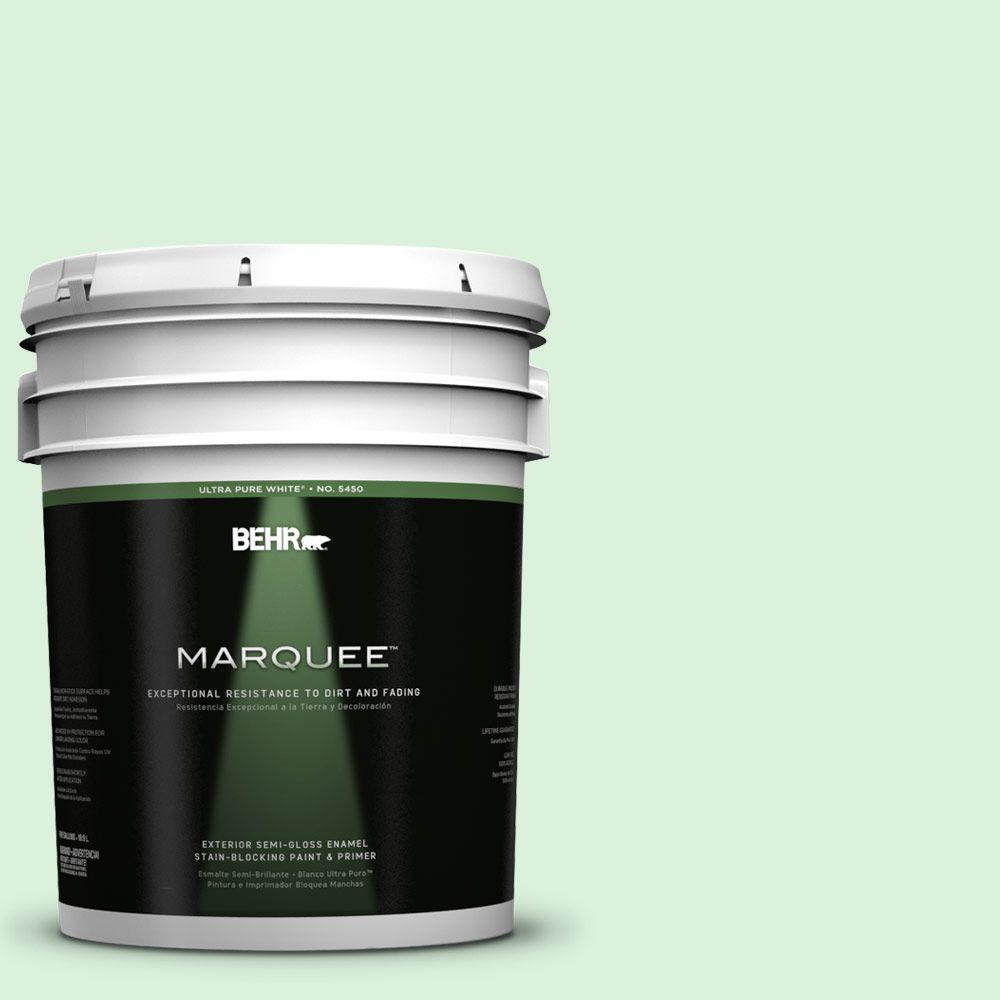 BEHR MARQUEE 5-gal. #P390-1 Frostini Semi-Gloss Enamel Exterior Paint
