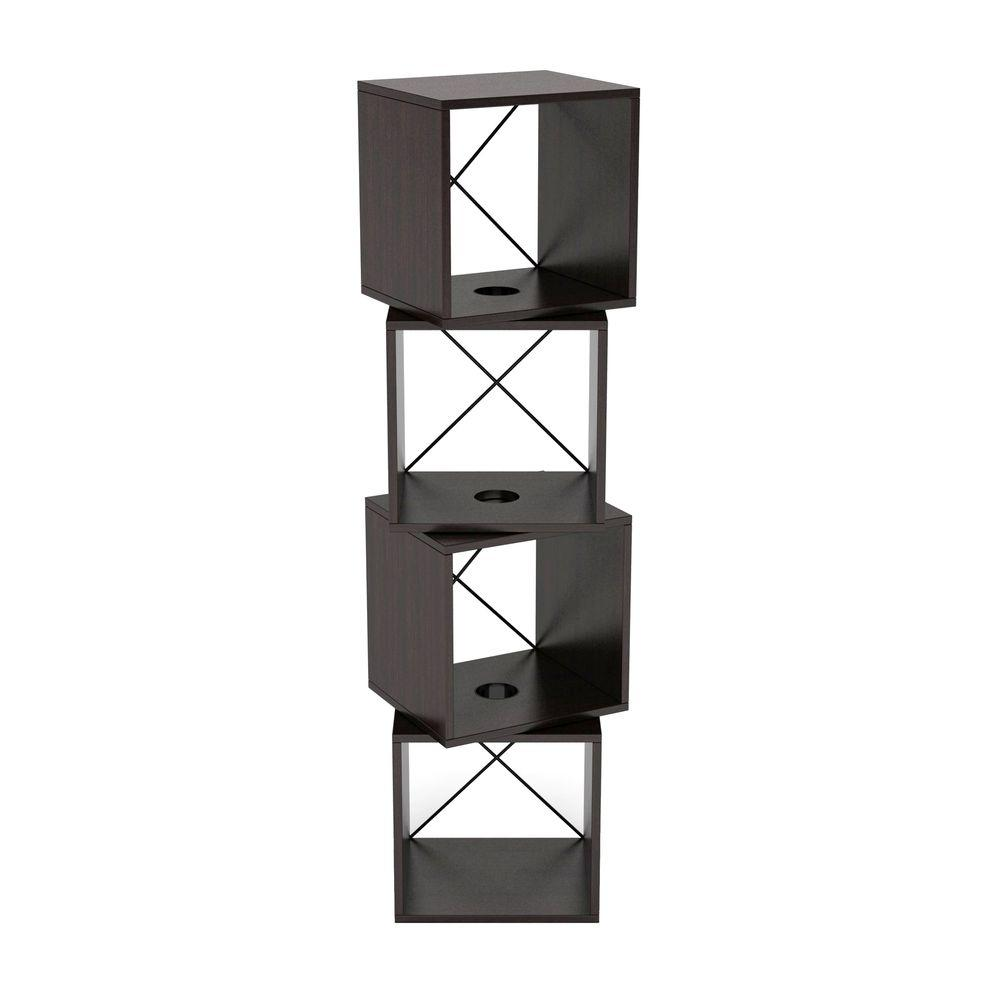Atlantic Rotating Storage Cube in Espresso-28235846 - The Home Depot