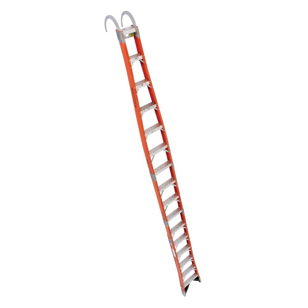 Werner 16 ft. Fiberglass Tapered Posting Extension Ladder with 300 lb.