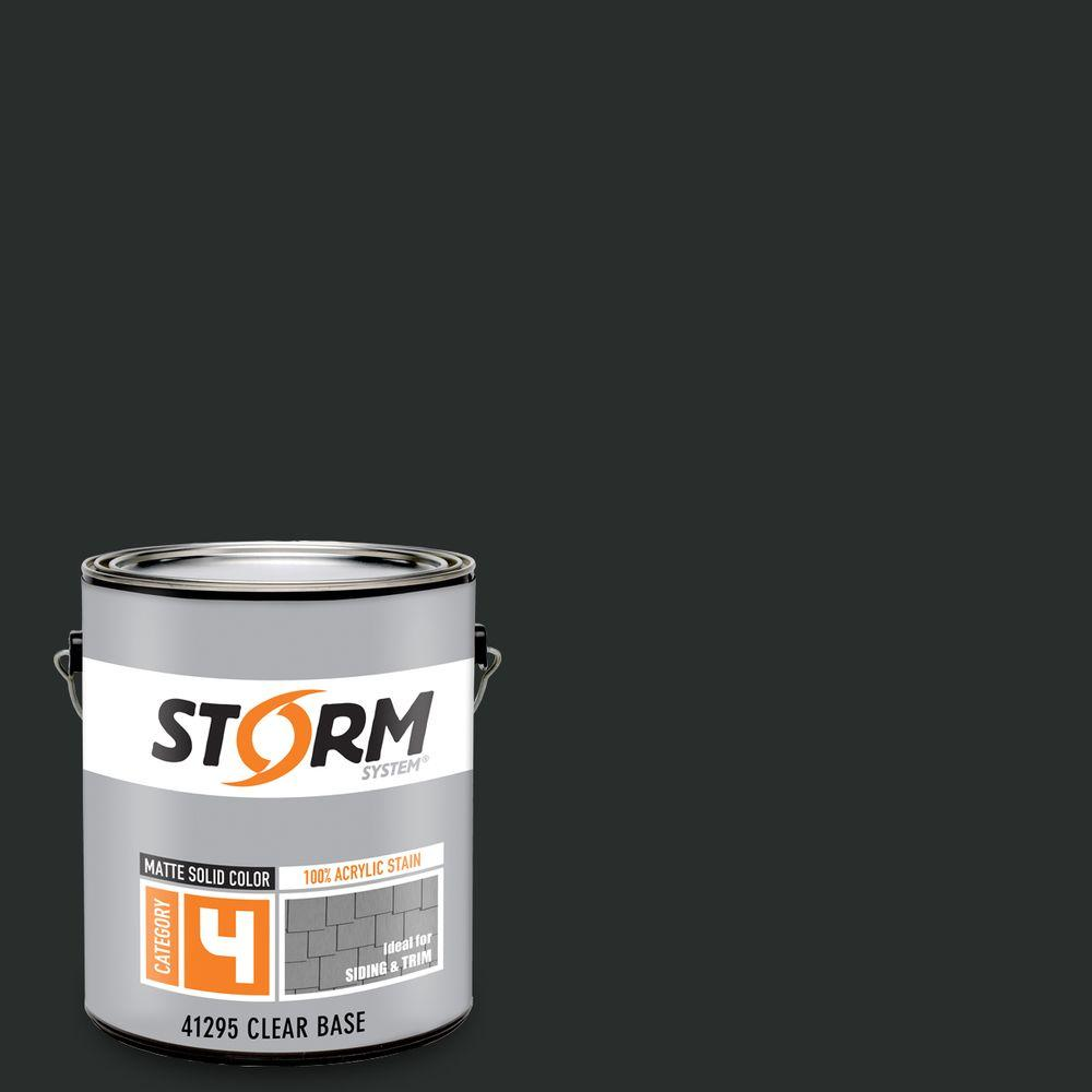 Storm System Category 4 1 gal. Apache Tears Matte Exterior Wood Siding 100% Acrylic Latex Stain