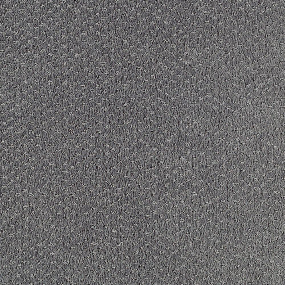 null Shoot Out - Color Fedora Grey Pattern 12 ft. Carpet
